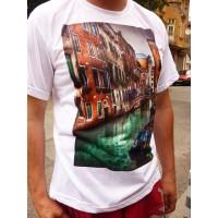 Мъжка Бяла Тениска със Снимка Touch Men