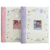 Бебешки Фотоалбум за 200 Снимки - Розов и Син