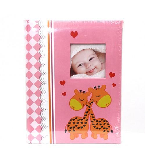 Розов Фотоалбум за 300 Снимки - Жирафчета