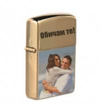 Запалка тип ZIPPO със Снимки - Злато
