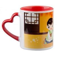 Чаша с Червена Дръжка - Сърце