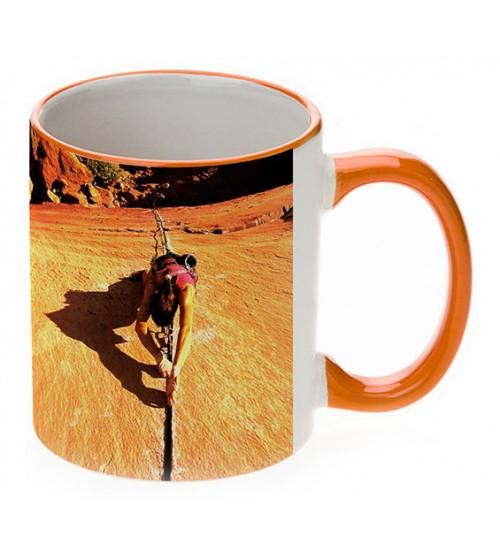 Чаши с Цветни Дръжка и Кант - 5 Цвята