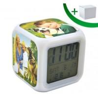 Светещ Електронен Часовник с Аларма и Термометър
