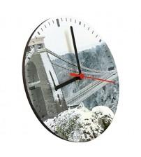 Дървен Часовник със Снимка по Избор