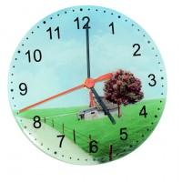 Стъклен Часовник със Снимка по Избор