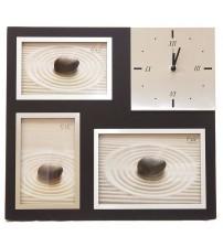 Луксозен Стенен и Настолен Часовник с 3 Ваши Снимки