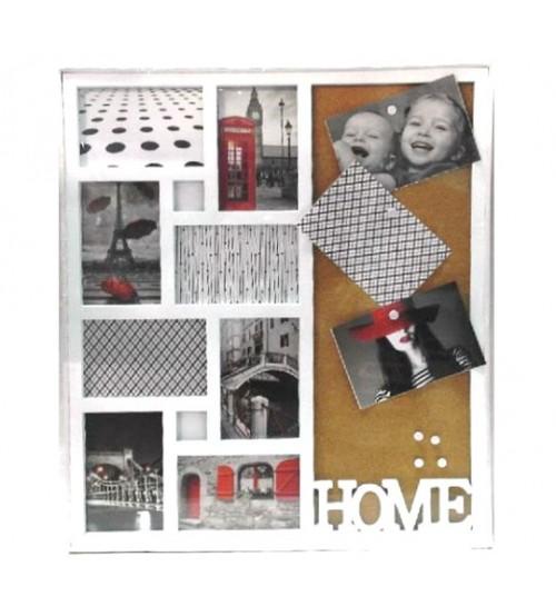 Бяла Фото Рамка за 8 снимки - HOME