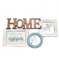 Дървена Фото Рамка за 3 снимки - HOME