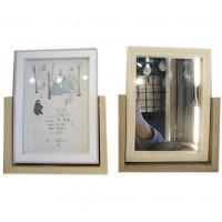 Вертикална Дървена Рамка с Огледало