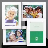 Бяла Метална Рамка За 4 Снимки