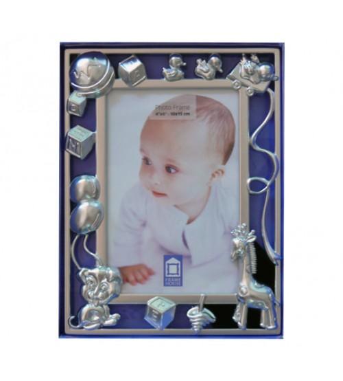 Метална фото рамка с детски орнаменти