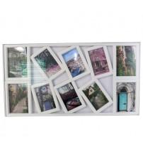 Бяла Фото Рамка за 10 снимки