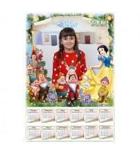 Еднолистен Календар с 1 Снимка - Снежанка