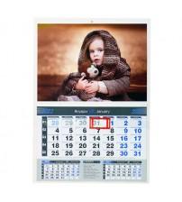 Работен Календар с Една Секция - Син
