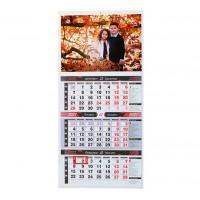 Работен Календар с Три Секции - Червен