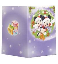 Коледна Kартичка със Cнимка - Мики Маус