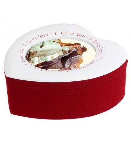 Кутия за Бижута със Снимка - Сърце