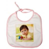 Бебешки Лигавник със Снимка - Розов кант