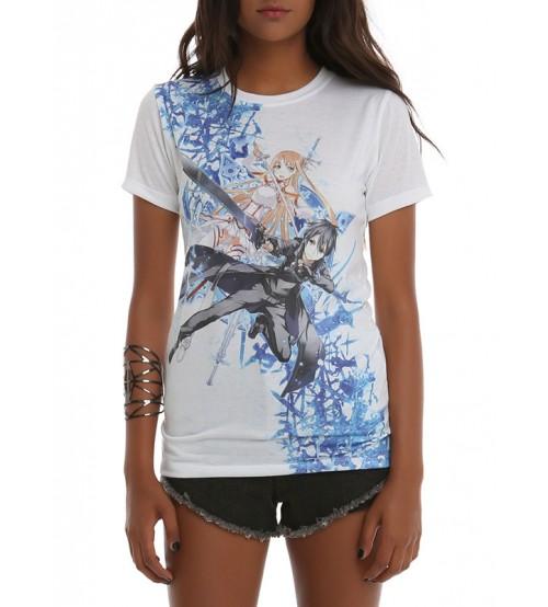Бяла Дамска Тениска със Снимка