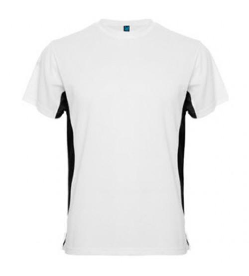 Бяла Тениска с Черен Подръкав