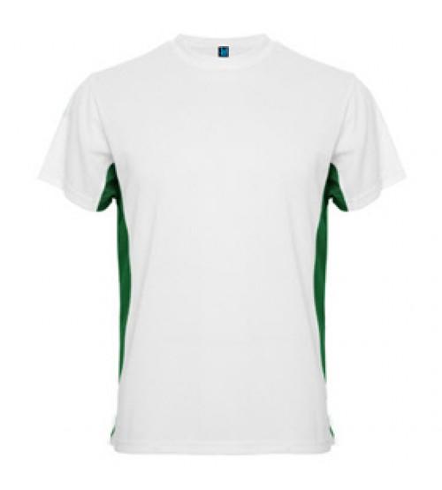 Бяла Тениска със Зелен Подръкав