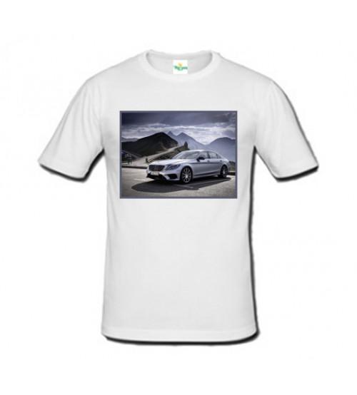Бяла Мъжка  Тениска със Снимка