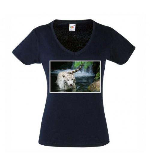 Дамска Черна Тениска със Снимка