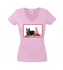 Дамска Розова Тениска със Снимка