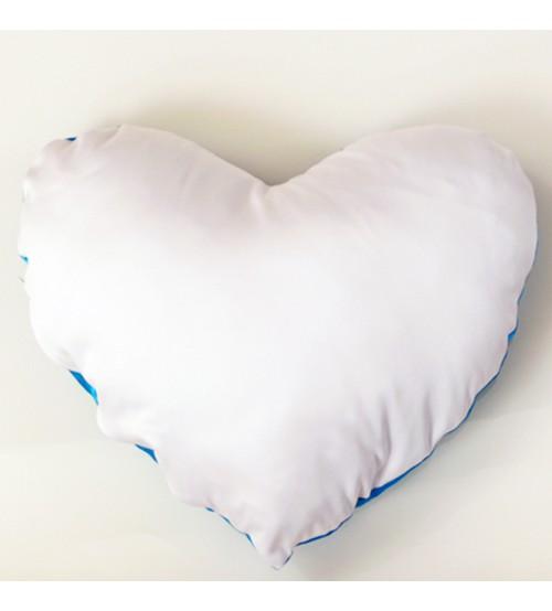 Възглавница с Цветен Гръб - Сърце