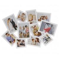Бяла Фото Рамка за 11 Снимки